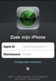 zoek mijn iphone apple