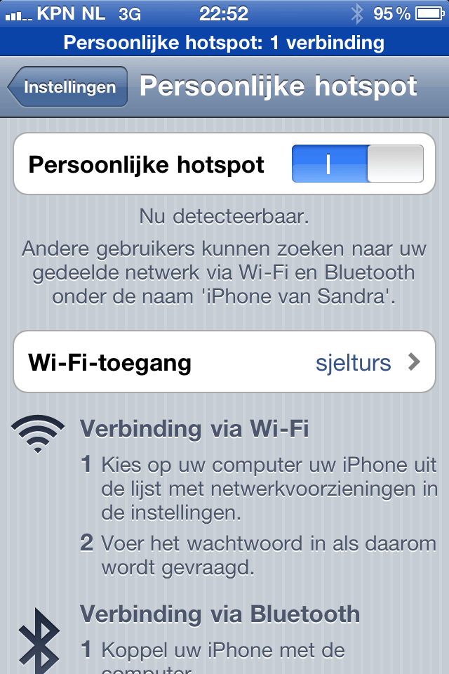 how to use iphone as hotspot for laptop