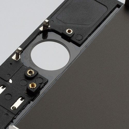 iPhone 5 home button opening in het zwart