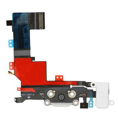 iPhone 5s dock connector van de achterkant in het wit