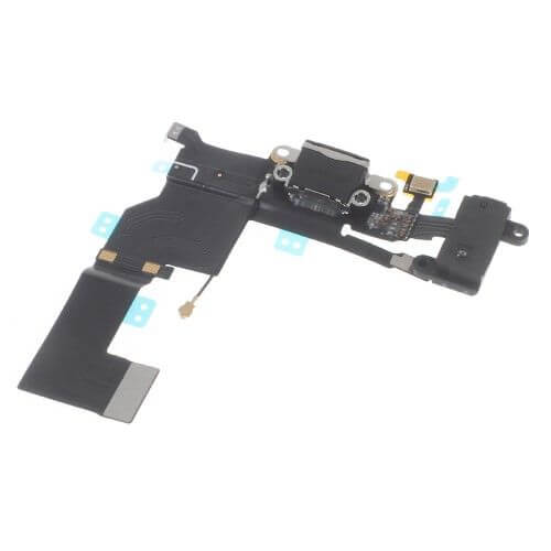 iPhone SE dock connector in het zwart en scheef
