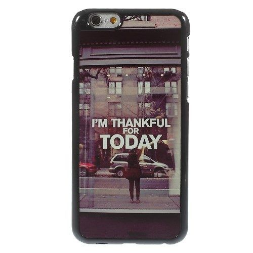 Plastic i am thankful for today hoesje iPhone 6 / 6s