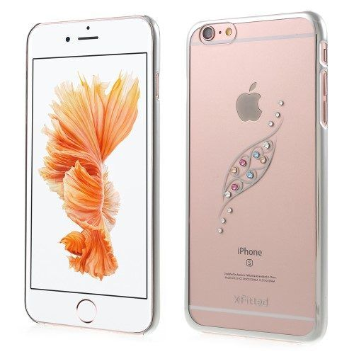 X-FITTED plastic diamand hoesje iPhone 6 / 6s in het zilver
