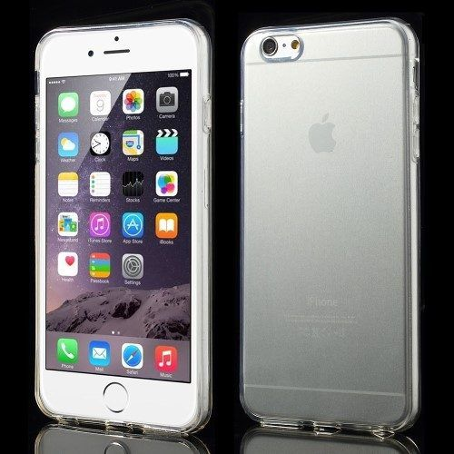 Glossy TPU transparant hoesje iPhone 6 plus / 6s plus transparant