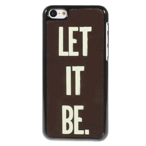 Plastic let it be hoesje iPhone 5c