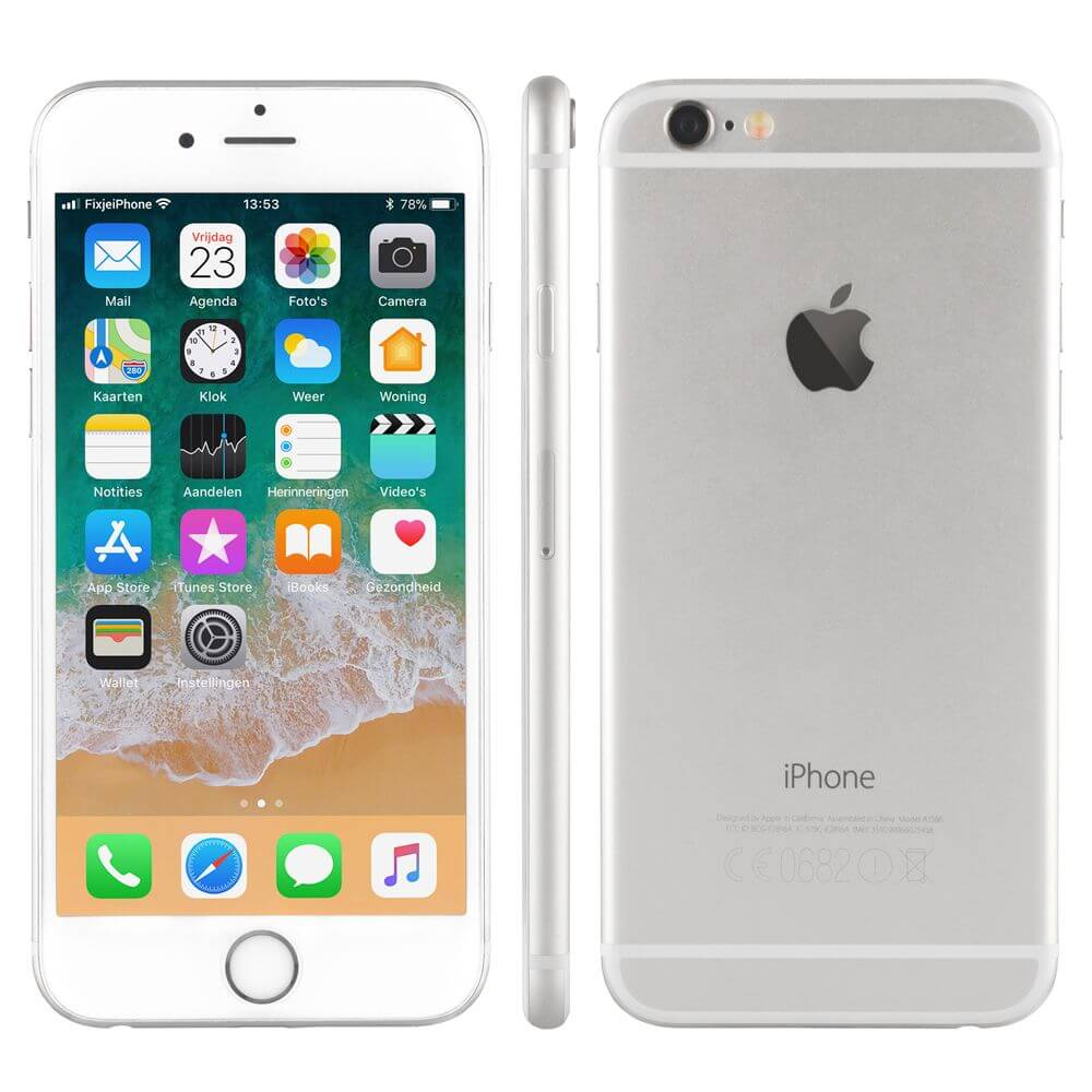 Afbeelding van Refurbished iPhone 6 zilver 16 gb