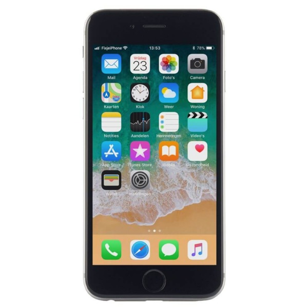 Refurbished iphone iPhone 6 space grey van de voorkant