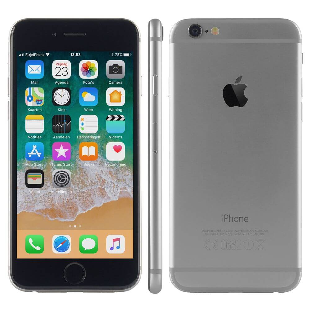 refurbished iphone 6 zwart 16 gb kopen. Black Bedroom Furniture Sets. Home Design Ideas