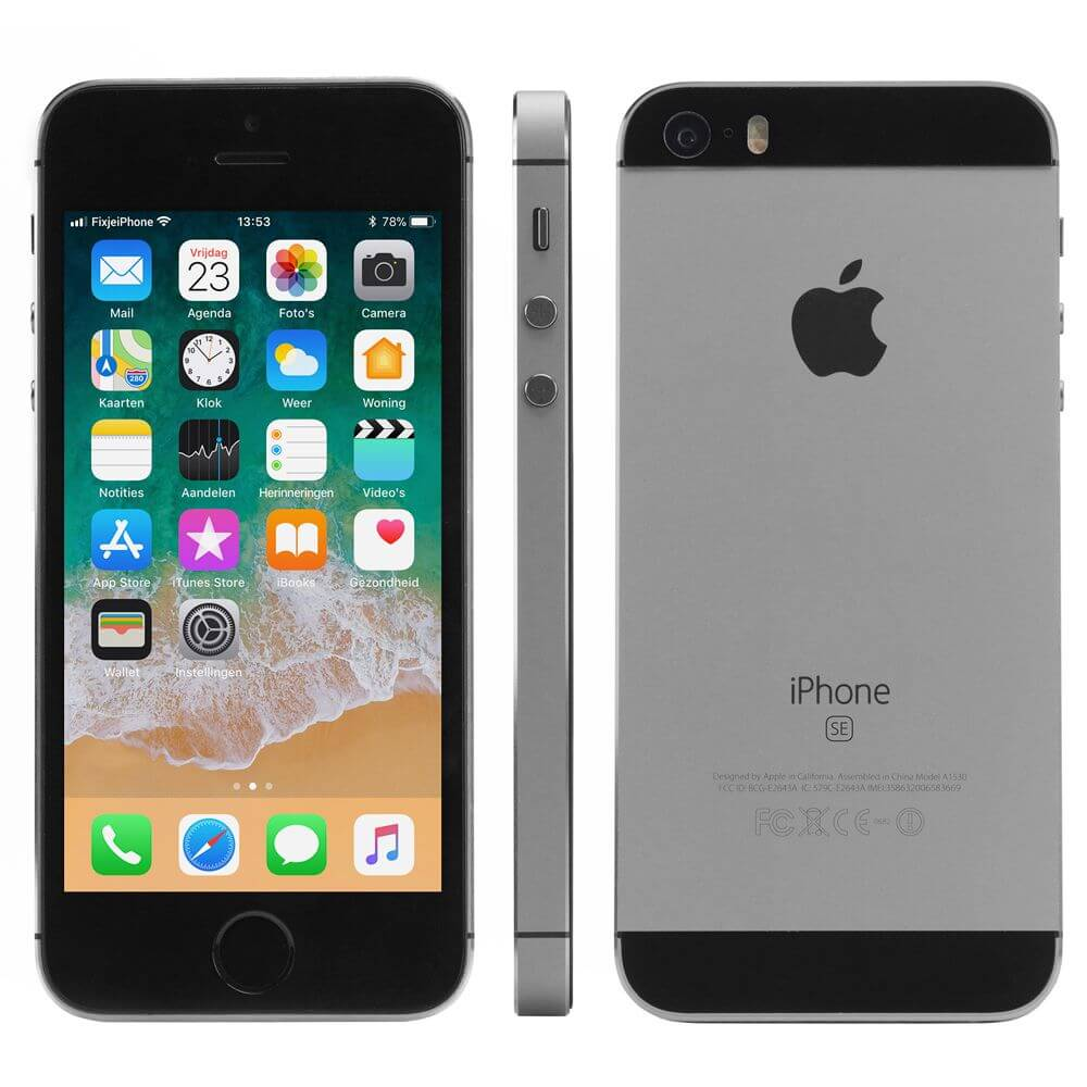 refurbished iphone se zwart 64 gb kopen. Black Bedroom Furniture Sets. Home Design Ideas