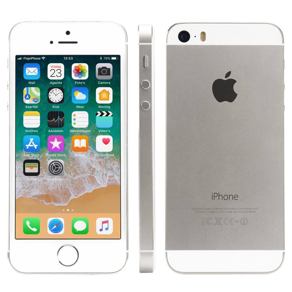 iphone 5 refurbished refurbished iphone 5s zilver 32 gb kopen fixjeiphone nl 11030