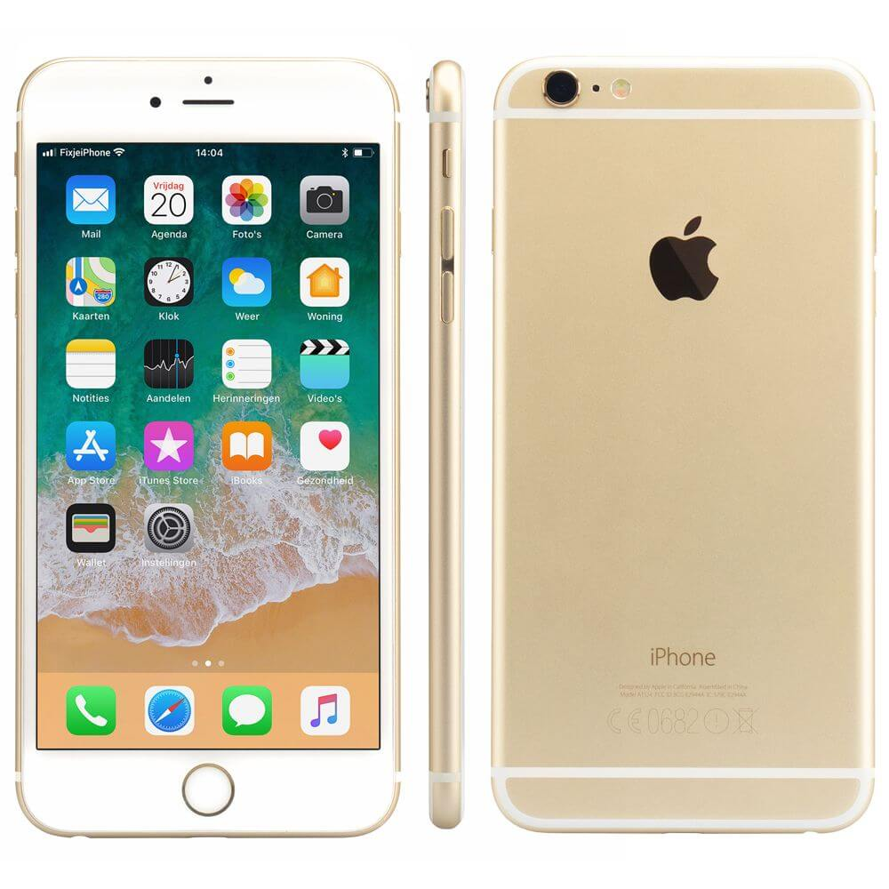 refurbished iphone 6 plus goud 64 gb kopen. Black Bedroom Furniture Sets. Home Design Ideas