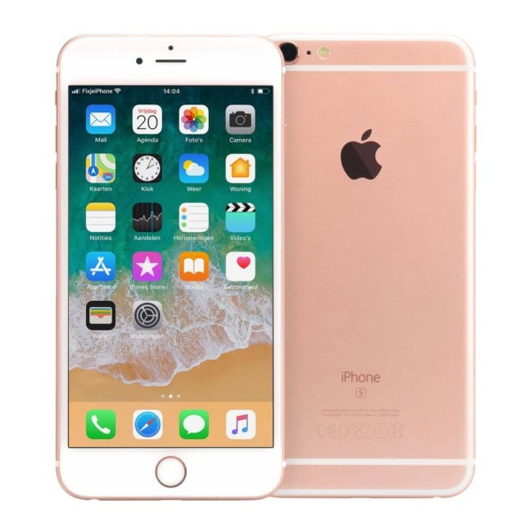 Refurbished iPhone 6s plus voor en achterkant rosegoud