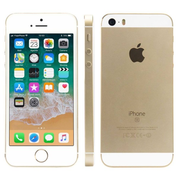 Refurbished iPhone SE van alle kanten goud