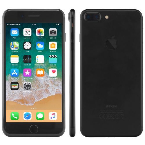 iPhone 7 plus zwart alle kanten