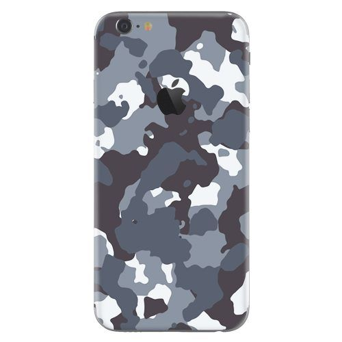 iPhone 6 plus skin camouflage grijs
