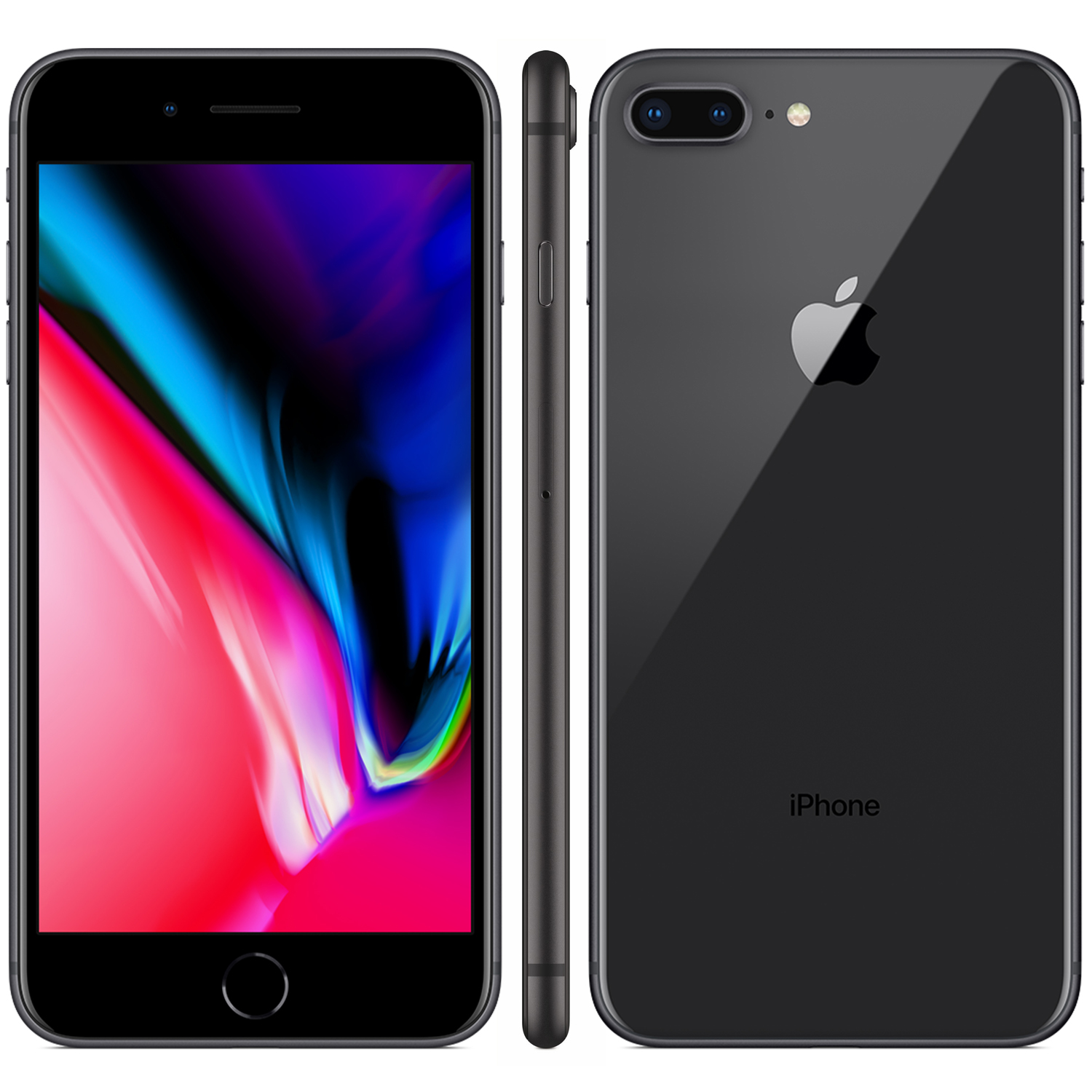 Refurbished iPhone 8 Plus zwart