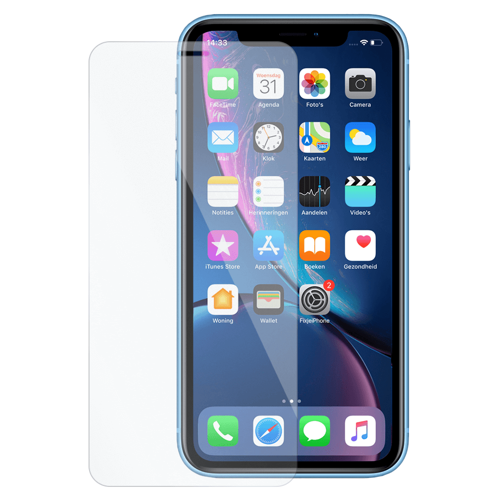 Afbeelding van 10x iPhone Xr tempered glass