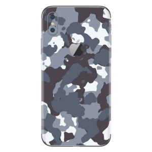 iPhone Xs skin camouflage grijs