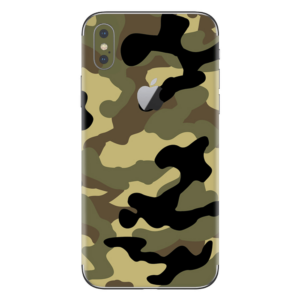 iPhone Xs skin camouflage groen