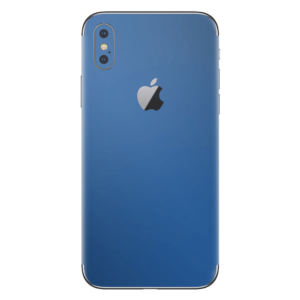 iPhone Xs skin delfst blauw