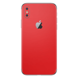 iPhone Xs skin donkerrood