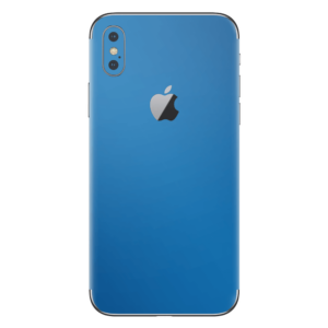 iPhone Xs skin electric blauw