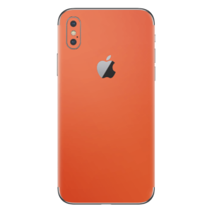 iPhone Xs skin oranje