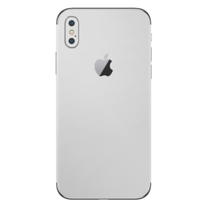iPhone Xs skin zilver