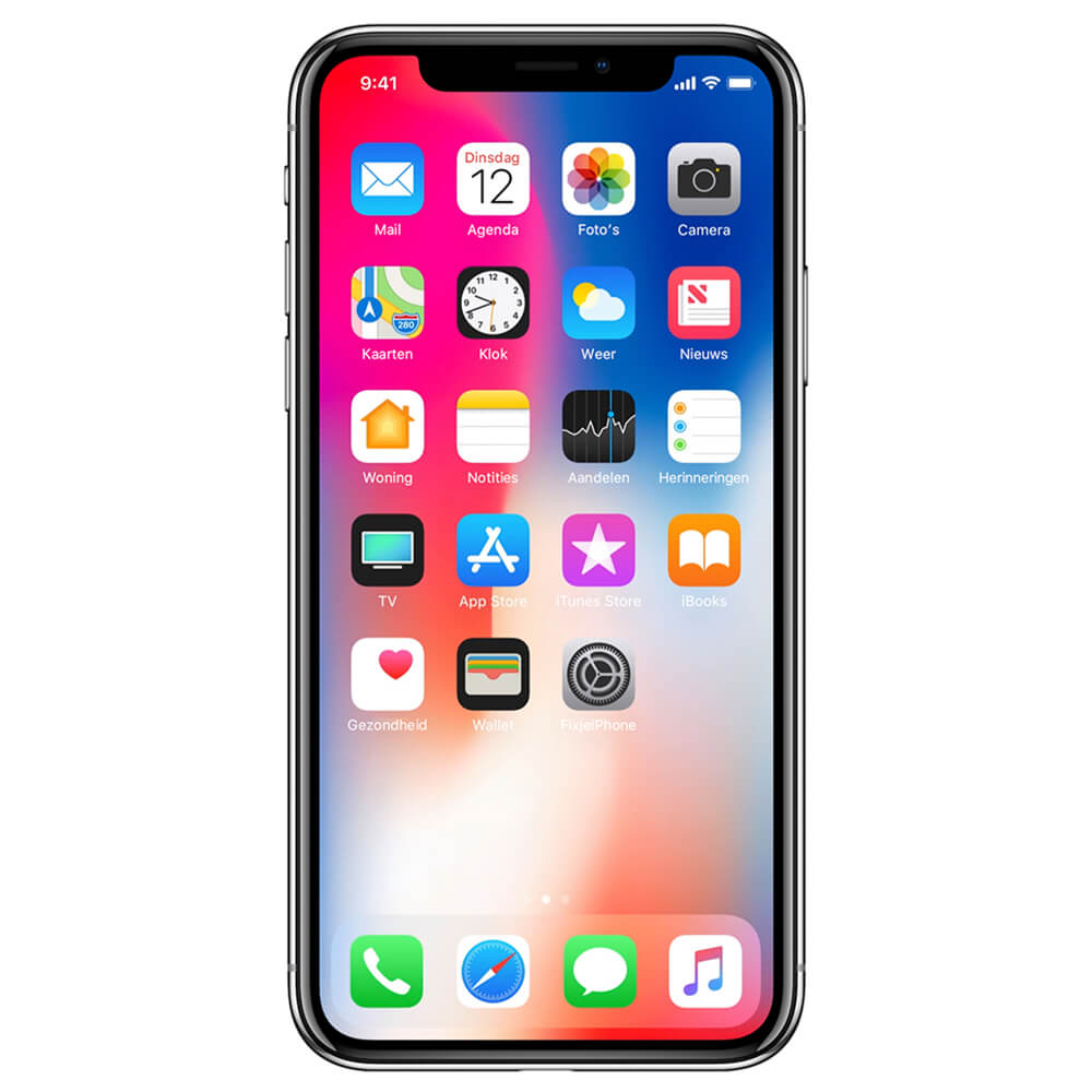 Refurbished iPhone X zilver 64 GB
