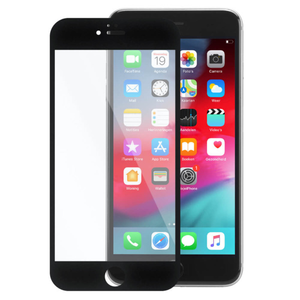 iPhone 6 plus invisible tempered glass zwart