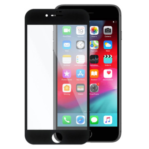 iPhone 8 Plus invisible tempered glass zwart
