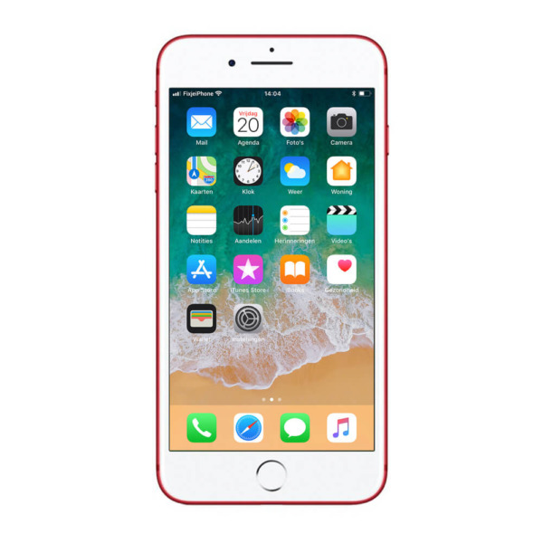 Refurbished iPhone 7 plus rood 128 gb
