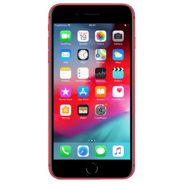 Refurbished iPhone 8 plus rood 128 gb