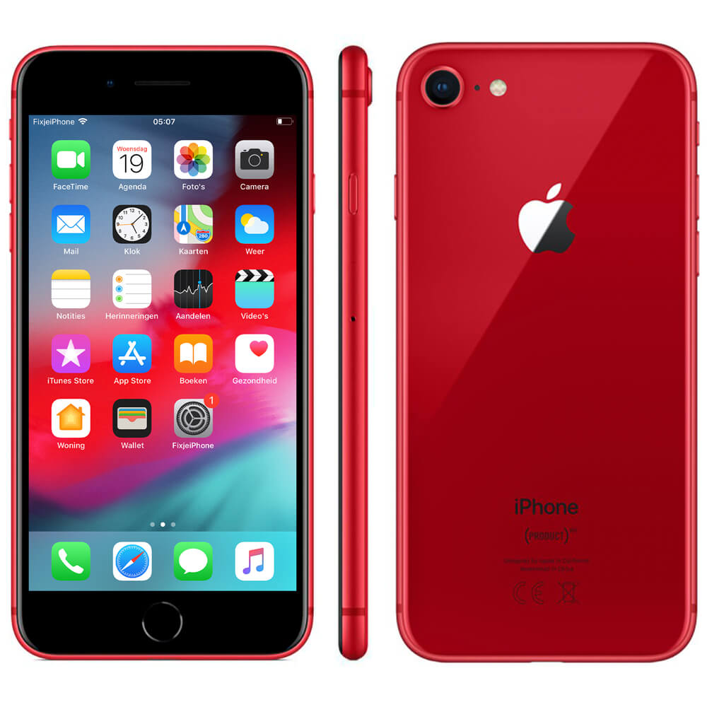 Afbeelding van Refurbished iPhone 8 rood 64 GB