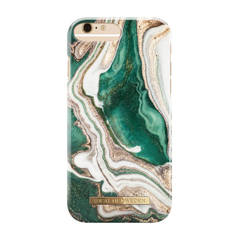Afbeelding van iDeal of Sweden fashion case Jade Marble iPhone 6s plus goud