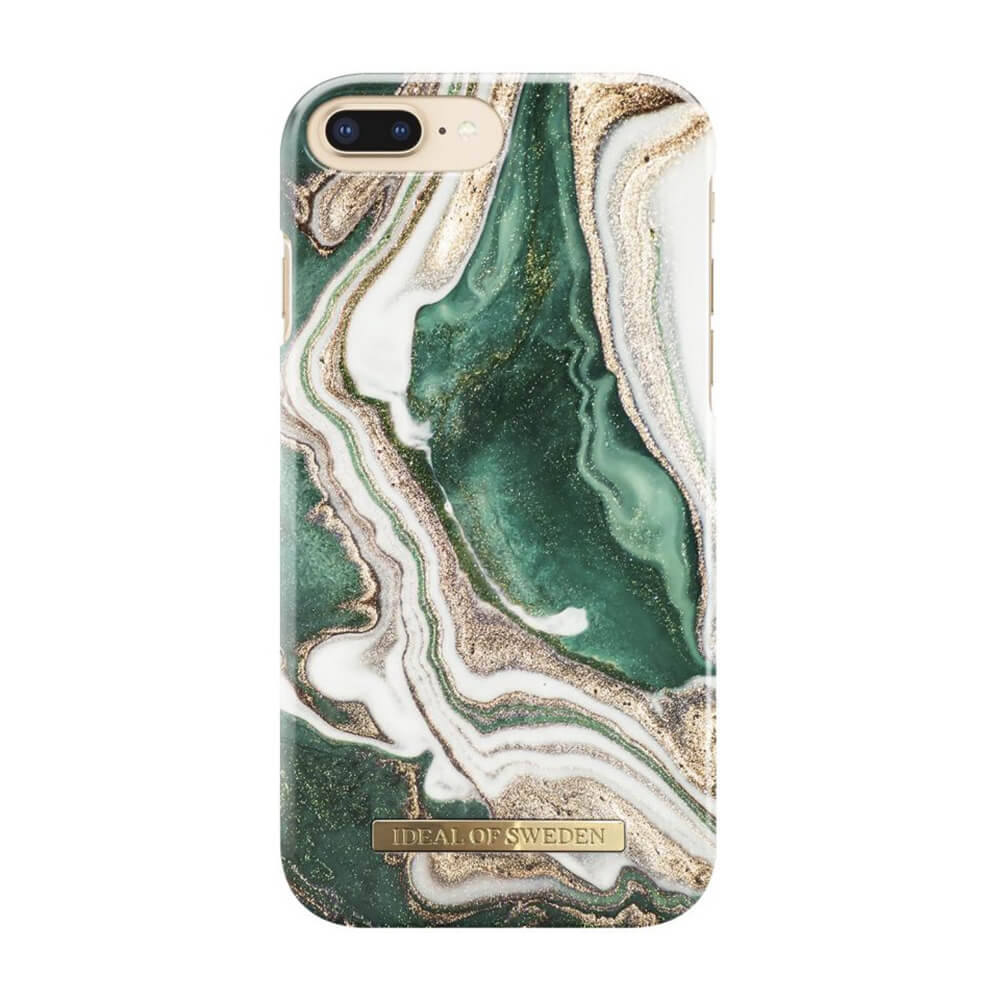 Afbeelding van iDeal of Sweden fashion case Jade Marble iPhone 7 plus goud