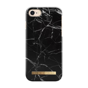 iDeal of Sweden fashion case Marble iPhone 8 zwart