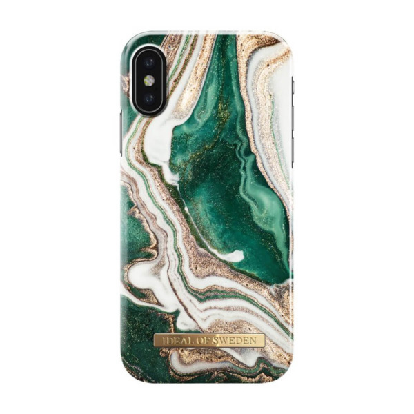 iDeal of Sweden fashion case Jade Marble iPhone Xs goud