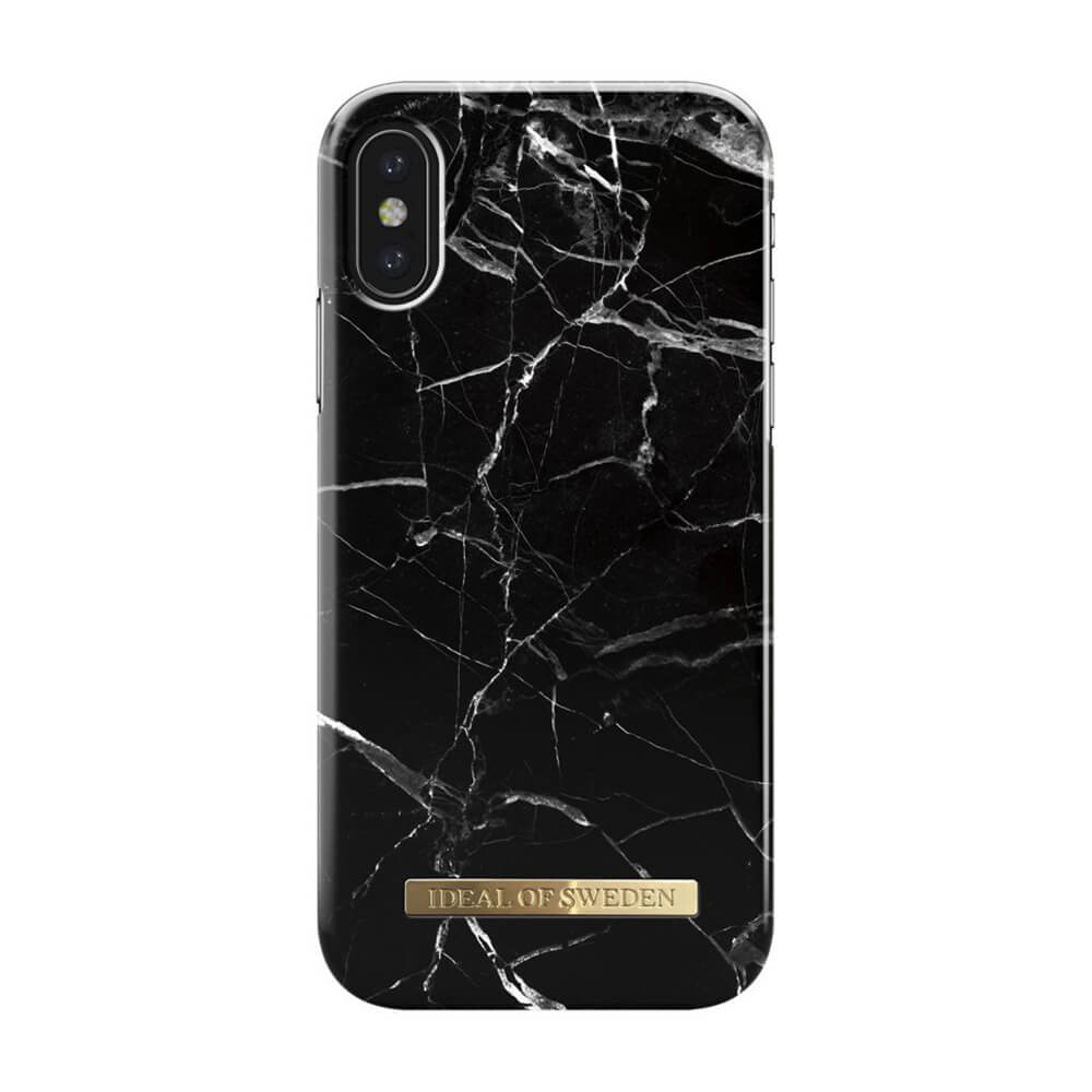 Afbeelding van iDeal of Sweden fashion case Marble iPhone X zwart