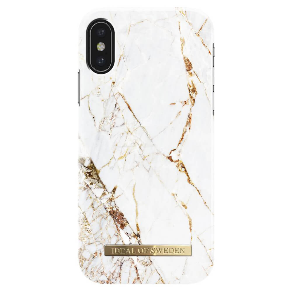 Afbeelding van iDeal of Sweden fashion case Carrara iPhone X goud