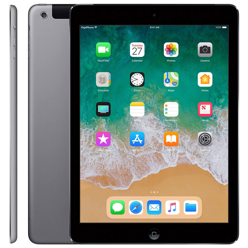 Afbeelding van Refurbished iPad air space grey 16 GB (Wifi + 4G)
