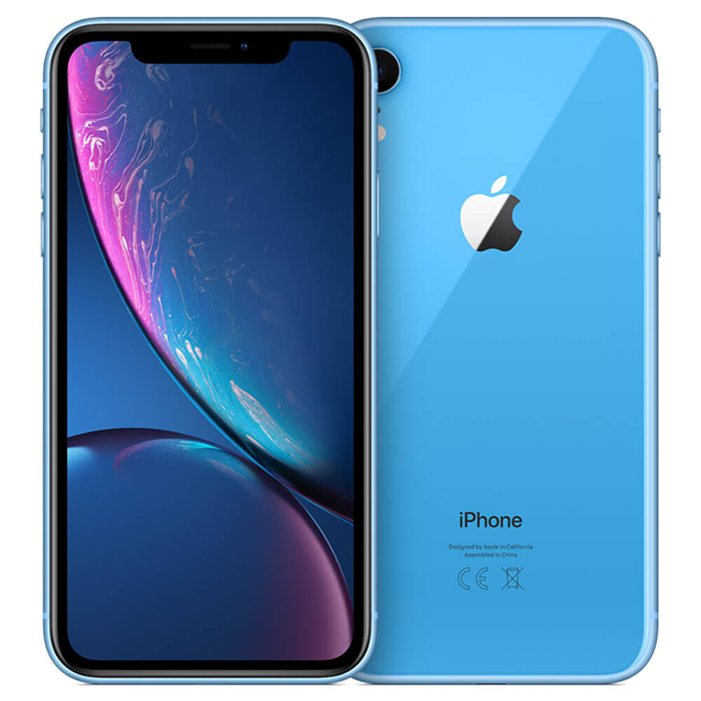 Refurbished iPhone Xr blauw