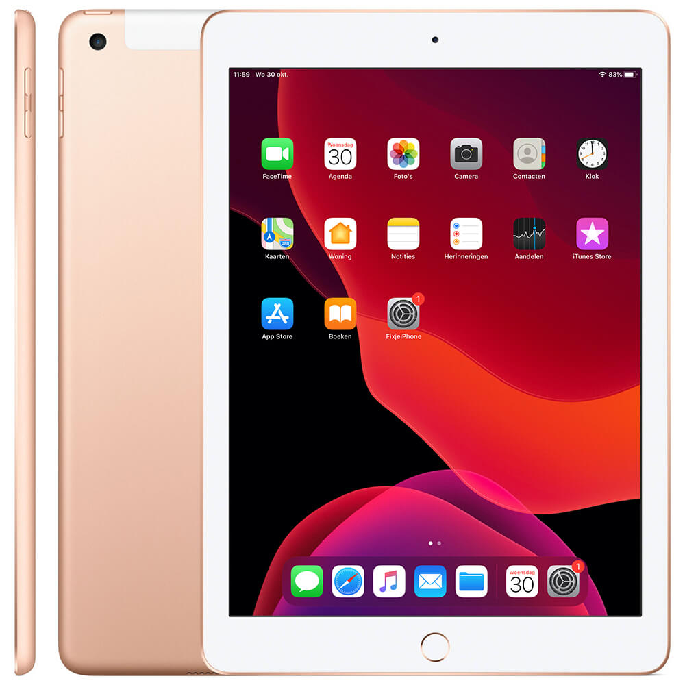 Afbeelding van Refurbished iPad 2018 goud 32 GB (WiFi + 4G)