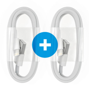 2x Lightning USB kabel 1M (gecertificeerd)